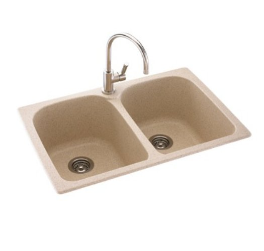 Swanstone Kslp 3322 018 Metropolitan Super Double Bowl Kitchen Sink