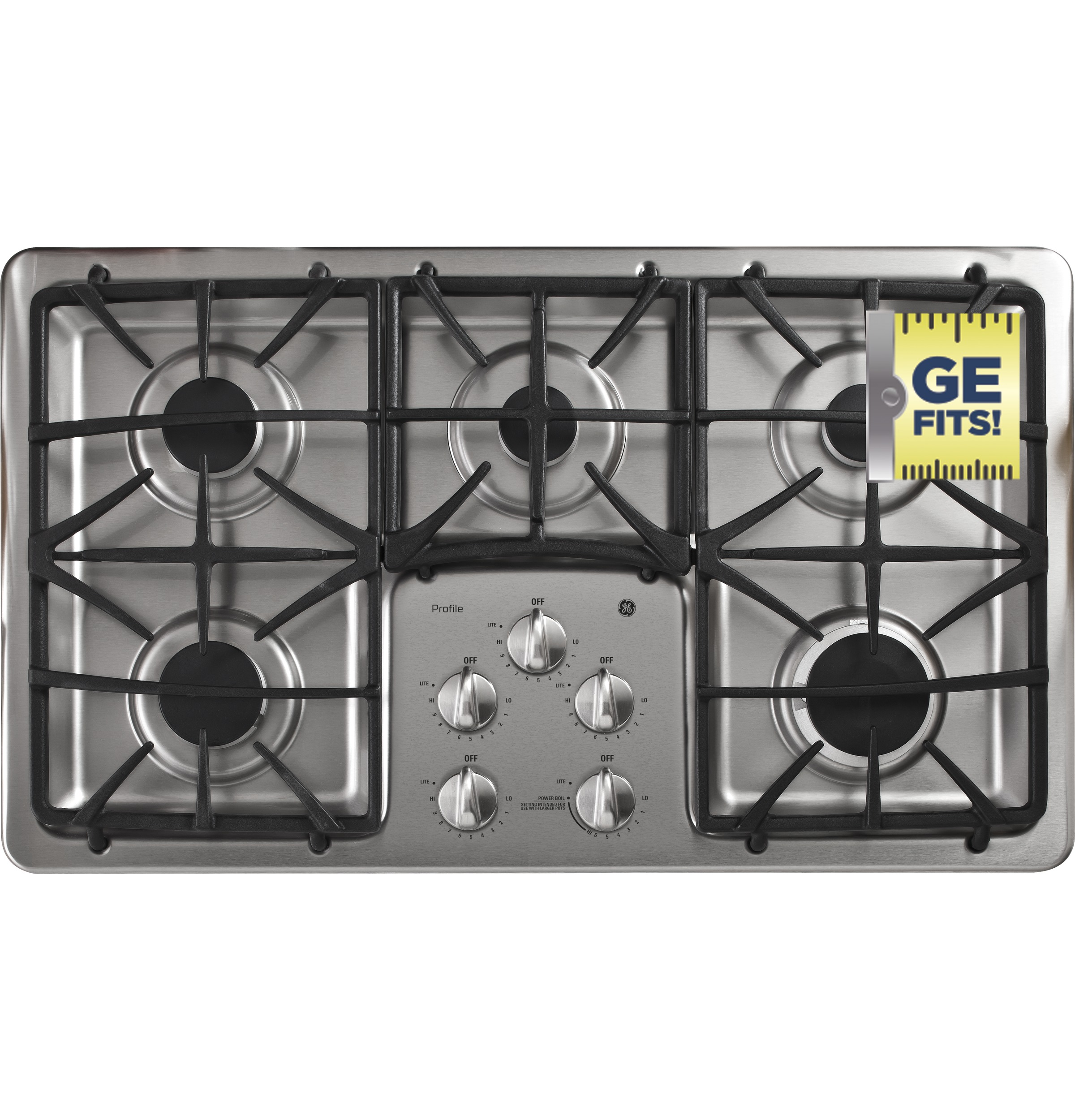 GE PGP966SETSS PROFILE™ SERIES 36u2033 BUILT IN GAS COOKTOP (Floor Model)
