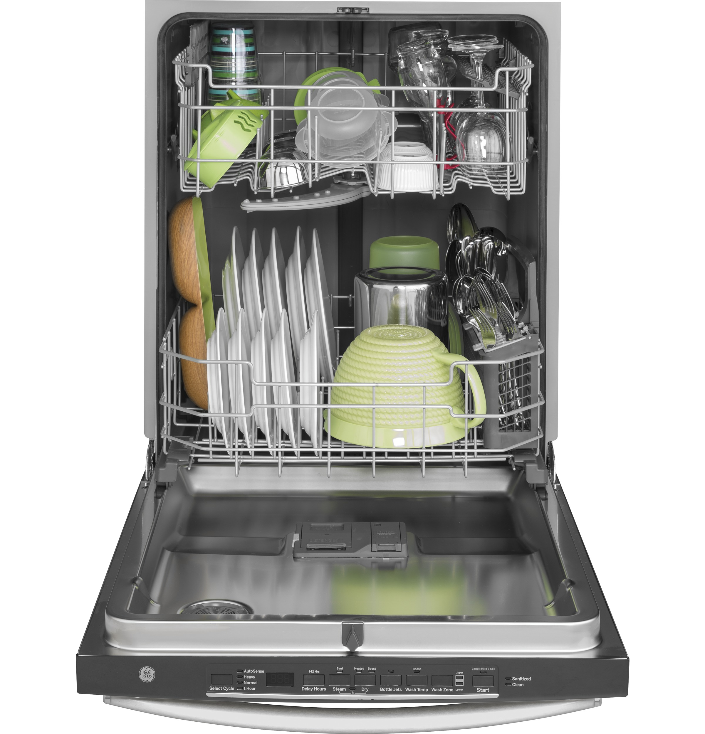 Ge Gdt635hsmss Hybrid Stainless Steel Interior Dishwasher With Hidden Controls