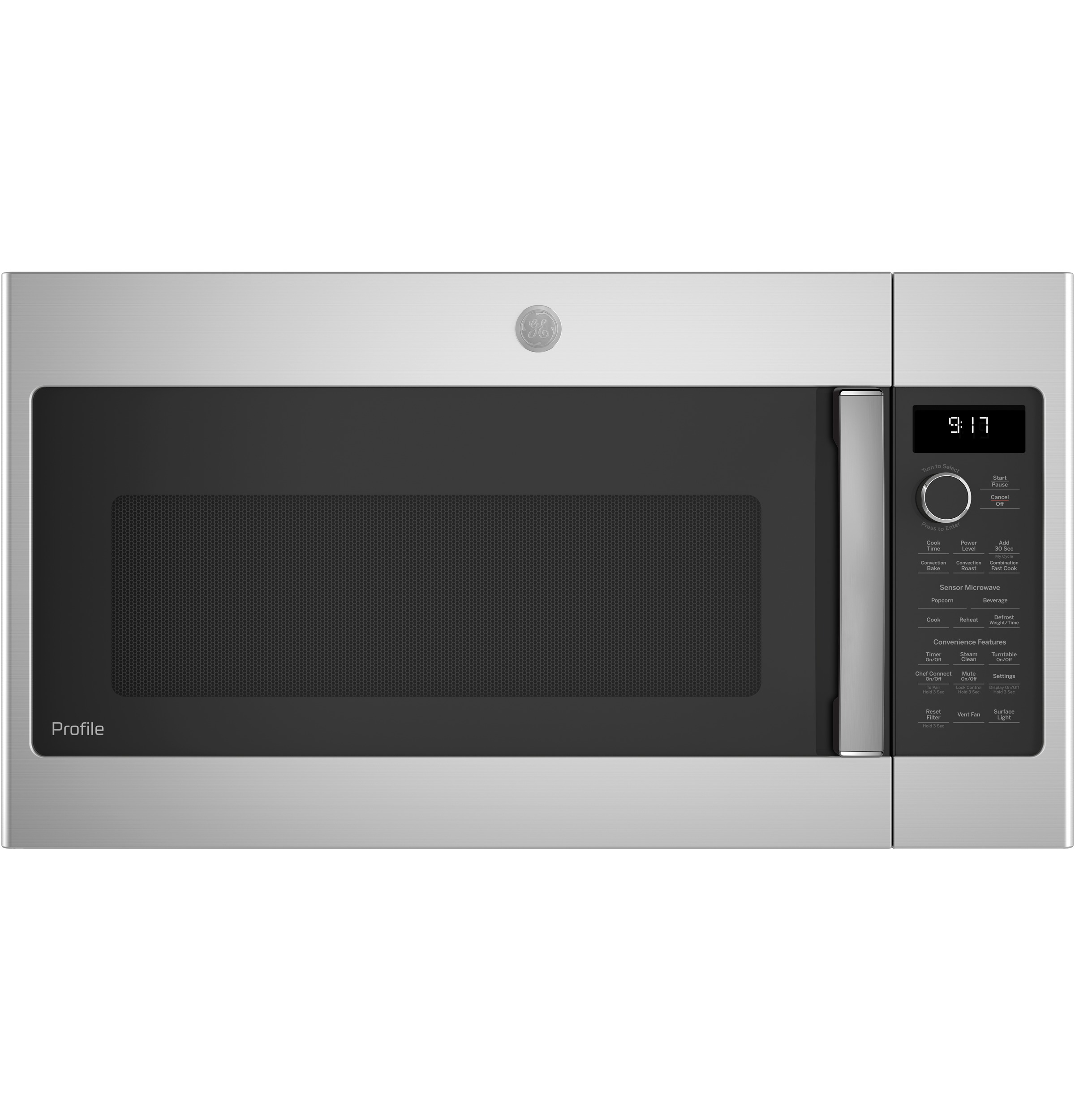 Ge Profile Pvm9179skss 1 7 Cu Ft Convection Over The